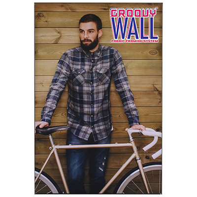 2' x 3' Groovy Wall™ Perfect Edge Hanging Fabric Frame System