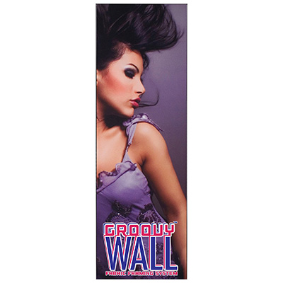 2' x 6' Groovy Wall™ Perfect Edge Hanging Fabric Frame System