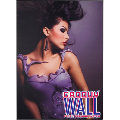 3' x 4' Groovy Wall™ Perfect Edge Hanging Fabric Frame System