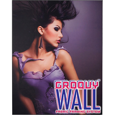 4' x 5' Groovy Wall™ Double-Sided Hanging Fabric Frame System