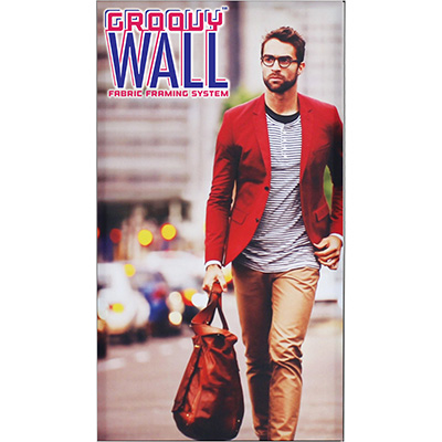 4' x 7' Groovy Wall™ Perfect Edge Hanging Fabric Frame System