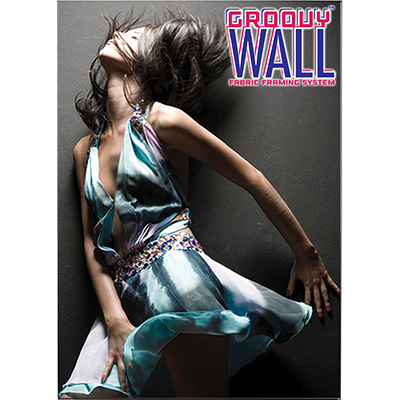 5' x 7' Groovy Wall™ Double-Sided Hanging Fabric Frame System