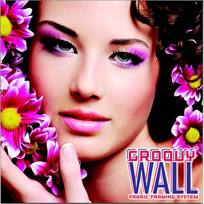 6' x 6' Groovy Wall™ Perfect Edge Hanging Fabric Frame System
