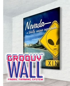 Groovy Wall™ Dye-Sub Fabric Framing Systems from beautifulDISPLAYS.com