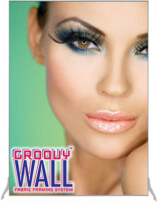 Groovy Wall™ Smooth Edge Free-Standing Fabric Frame System
