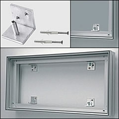 Wall Mount Brackets for Fabric FACTORY™ Groovy Wall™ Fabric Frame Systems