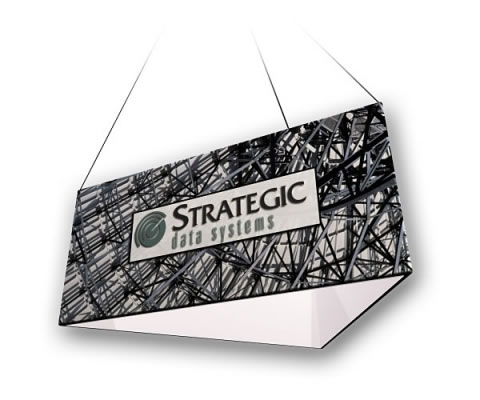 "10' x 24"" Fabric Factory™ Helium Triangular Hanging Fabric Sign"