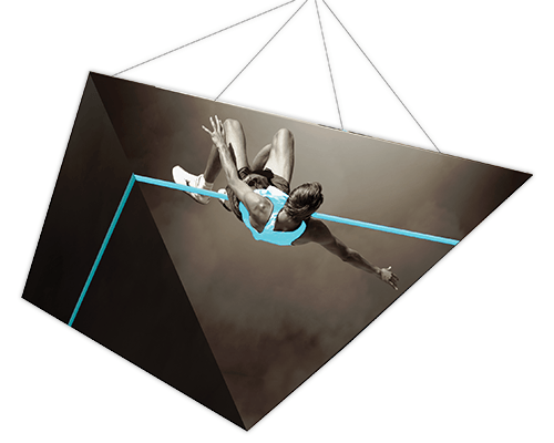 "Master™ 10' x 5' ""Four Sided Pyramid"" 3D Hanging Fabric Sign"