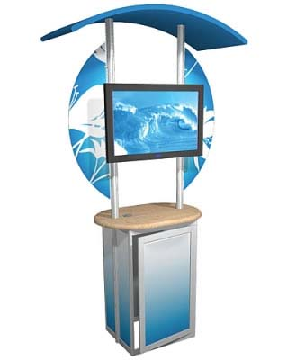 Linear™ 01 Aluminum Extrusion Kiosk Display
