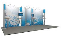 Linear™ Standard 02 10' x 20' Aluminum Extrusion Display