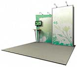 Linear™ Standard 03 10' x 10' Aluminum Extrusion Display