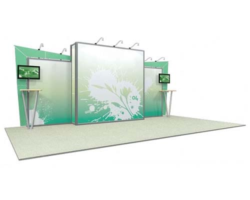 Linear™ Standard 04 10' x 20' Aluminum Extrusion Display
