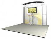 Linear™ Standard 05 10' x 10' Aluminum Extrusion Display