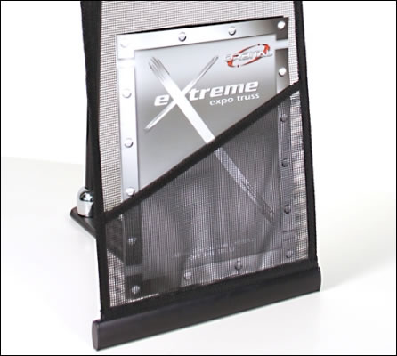 Reveal Pro 1 Brochure Stand (pocket detail)