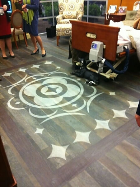 G-Floor Rollable Full Color Custom Printed Flooring