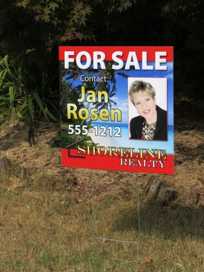 Click To View Larger Image Beautiful Full Color Real Estate Signs