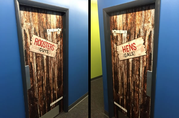 StickyFab™ Adhesive Graphics on Steel Doors