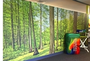 Full color StickyFab™ wall mural in our office entryway
