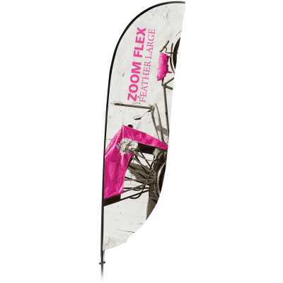 Large Zoom Feather Flag Single Sided Replacement Graphic