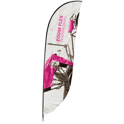 Small Zoom Feather Flag Single Sided Replacement Graphic