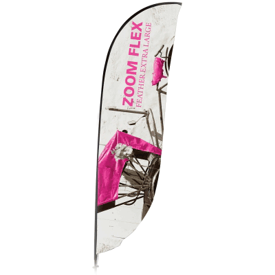 Extra Large Zoom Feather Flag Single Sided Replacement Graphic