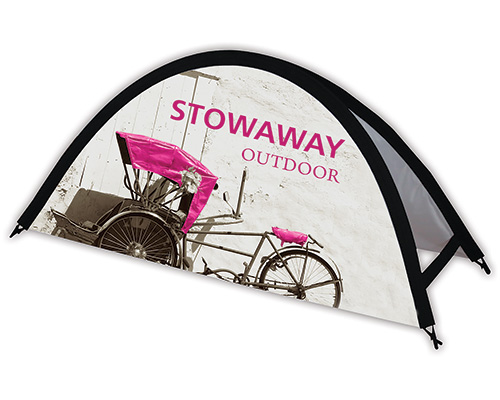 Stowaway Small Outdoor Popup Sign (Side View)