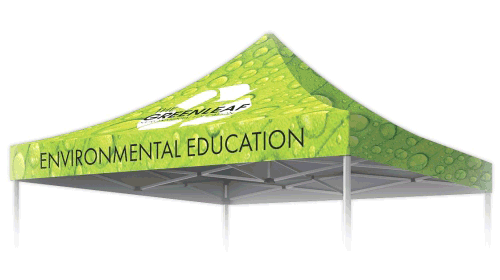 Full Color Printed Replacement Top For 10' Pop-Up Tent
