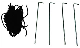 Tent Stakes & Guy Wire Kit For Pop-Up Tents