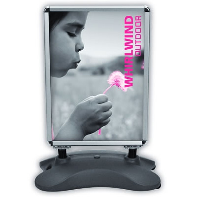 Whirlwind Single-Sided Sidewalk Sign with Graphic