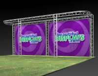 Outdoor Safe Aluminum Truss Display Systems from BeautifulDisplays.com