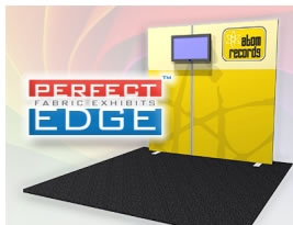 Perfect-Edge™ UltraPack™ Fabric & Aluminum Exhibit System (with monitor mount)