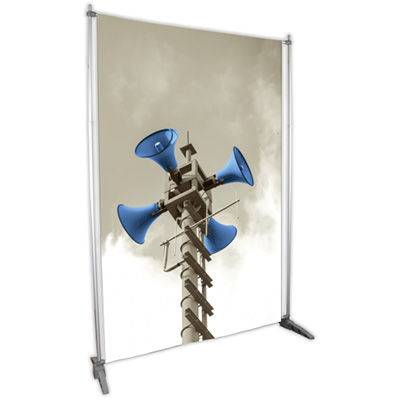 4' x 8' Dye-Sub Fabric Graphic and Telescoping Frame