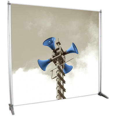 8' x 8' Dye-Sub Fabric Graphic and Telescoping Frame
