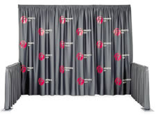 SnapDrape Multi-Print Silkscreened Logo Backdrop Drapery Set