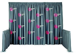 SnapDrape® Silkcreened Pipe and Drape Systems from BeautifulDisplays.com