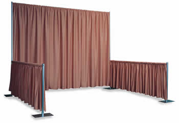 SnapDrape 10' x 10' Pipe and Drape Booth Kit