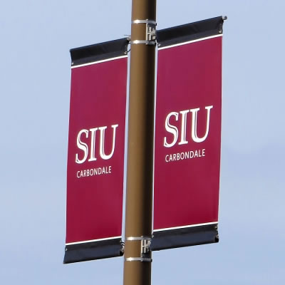 Street Pole Banner Mounting Example