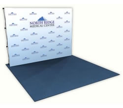 Great Buy™ 10' Step and Repeat Dye-Sub Fabric Display from BeautifulDisplays.com