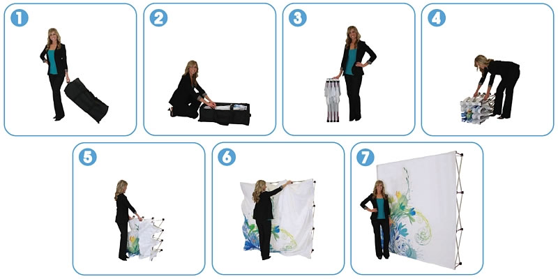Great Buy™ Fabric Popup Display Setup Sequence