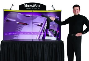 ShowMax Self-Packing Tabletop Display