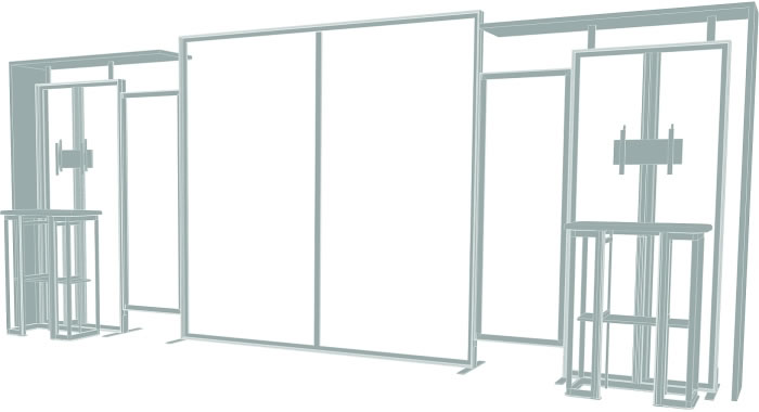 10ft. x 20ft. Display Kit 11 Frame Detail