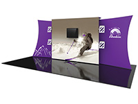 Snap-Tube Designer™ Series 20ft. Tension Fabric Backwall Display Kit #11
