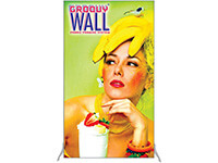 4' x 7' Groovy Wall™ Perfect Edge Free-Standing Fabric Frame System