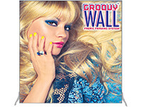 6' x 6' Groovy Wall™ Perfect Edge Free-Standing Fabric Frame System
