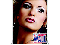 6' x 7' Groovy Wall™ Perfect Edge Free-Standing Fabric Frame System