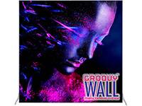 7' x 7' Groovy Wall™ Perfect Edge Free-Standing Fabric Frame System