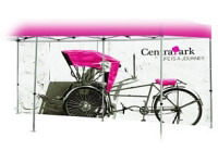 Custom Printed Full Backwall Graphic for 20' Pop-Up Tent