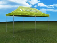 20' Pop-Up Tent With Full Color Printed Top