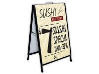 Ace Outdoor Sign Stand with Single-Sided Rigid Graphic