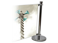 Cafe Barrier Indoor / Outdoor Banner Stand System Extension Kit